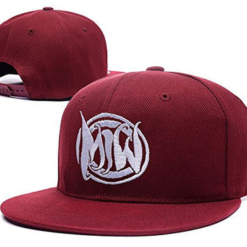 XINMEN Motionless In White Band Logo Adjustable Snapback Embroidery Hats Caps - Red