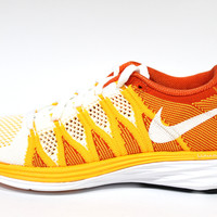 Nike Women's Flyknit Lunar 2 Orange/White Running Shoes 620658 101