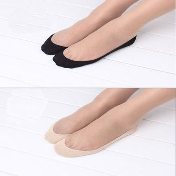 1Pair 2016 New Women Girl Cotton Sock Lace Antiskid Invisible Liner No Show Peds Low Cut Socks