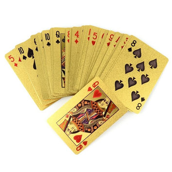 24K GOLD PLAT PLAYING CARDS FULL PER DECK 99.9% PURE CHRTMAS GI   SS = 1712753732