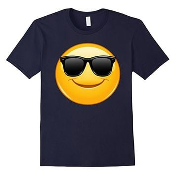 Emoji Shirt Smiling Emoticon with Sunglasses