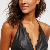 Free People Can't Stop The Feeling Leather Tank