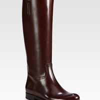 Prada - Leather Riding Boots