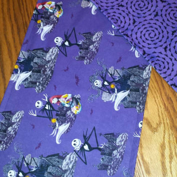 Table RUNNeR 40X11  Nightmare Before Christmas JACK SKELLINGTON SaLLY  & Zero Fabric VersaTiLe Table DECoR or FuN GiFT! Designs by Sugarbear