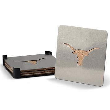 Texas Longhorns 4-piece Boaster Drink Coaster