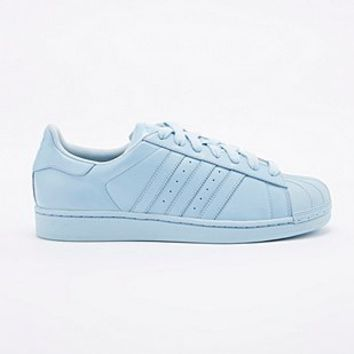 Adidas X Pharrell Supercolor Superstar Trainers in Sky Blue - Urban Outfitters