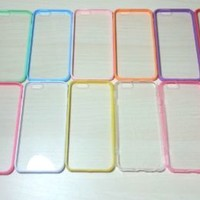 For Apple iPhone 6 (4.7 inches) Silicone Bumper & Clear Hard Acrylic Case