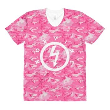 Lightning Pink Camo Women's T-Shirt