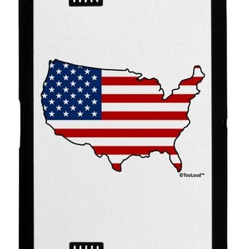United States Cutout - American Flag Design Black Jazz Kindle Fire HD Cover by TooLoud