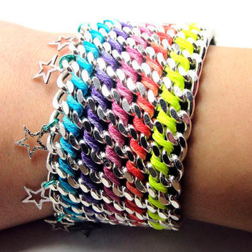 Star Dust Designer Fashion Bracelet with Chains by GetShackled