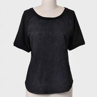 Avenue Montaigne Brocade Top