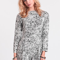 Molly Printed Romper By Motel
