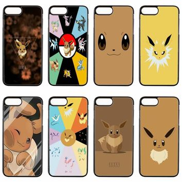 cute kawaii anime Pokemons Eevee cover case For Samsung Galaxy S3 S4 S5 S6 S7 edge S8 S9 Plus mini Note 3 4 5 8 phone case