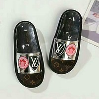 LV Louis Vuitton Trending Women Casual Print Sandal Slipper Shoes Silver I-GCXGCFH-GC