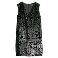 Buy Violeta by Mango Sequinned Velvet Dress, Black | John Lewis