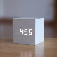 Antique Office Vintage Digital LED Retro Table Silent Electronic Clock
