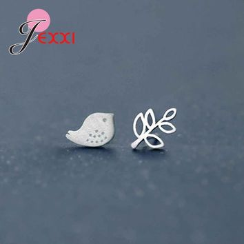 JEXXI New Arrival Animal Stud Earrings Sterling 925 Silver Cute Small Bird Shape Accessories Best Gifts For Young Ladies Girls