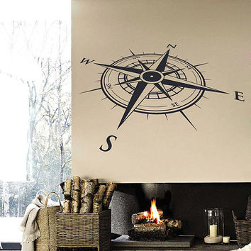 kik2978 Wall Decal Sticker compass living room bedroom