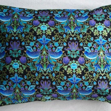 Lavender Buckwheat  Pillow - Jewel Toned Birds - Housewares and Decor