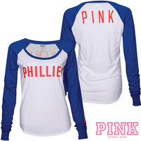 Philadelphia Phillies Victoria's Secret PINK® Drapey Baseball T-Shirt - MLB.com Shop