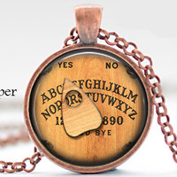Initial R Necklace, Best Friend,Back to School Teacher Gift The Letter R Art Pendant Nostalgic Ouija Board Personalized Necklace