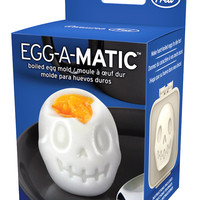 """Egg-A-Matic Skull"" Boiled Egg Mold by Fred & Friends"