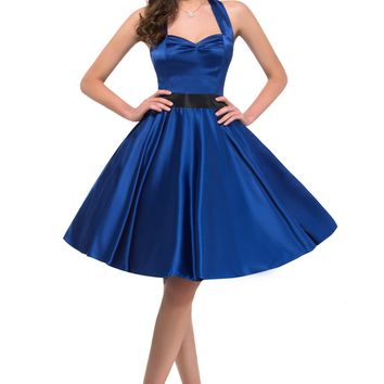1950s Vintage Retro Style Housewife Prom Party Formal Evening Pinup Swing Dress