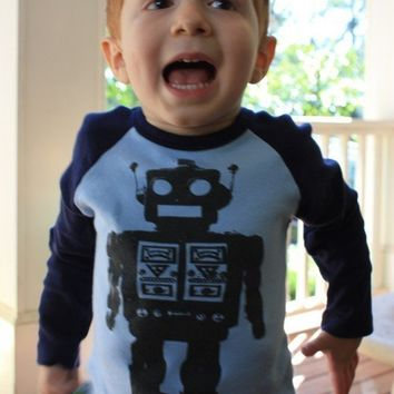 Robot Tshirt KIDS american apparel childrens by happyfamily