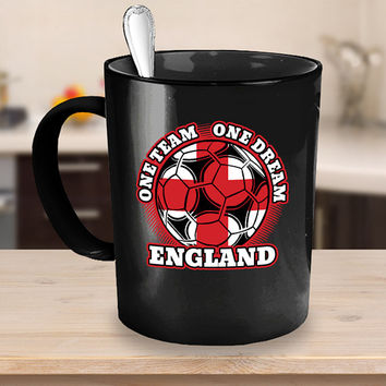 England Soccer Coffee Mug 11 or 15oz White or Black Ceramic Cup, Soccer Gift, England Flag, Soccer Gift Idea, Gift for Soccer Player