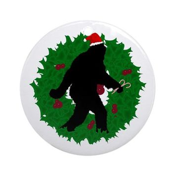 GONE CHRISTMAS SQUATCHIN' ORNAMENT (ROUND)
