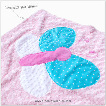 Personalized Butterfly Baby Blanket