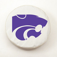 Holland Bar Stool Kansas State Tire Cover in White