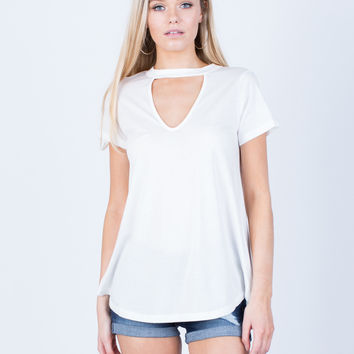 Simple Flowy Knit Tee
