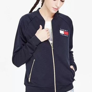 """Tommy Hilfiger"" Women/Men Zip Jacket Coat I"