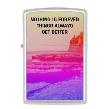 Forever Photo Quote by Kat Worth Zippo Lighter