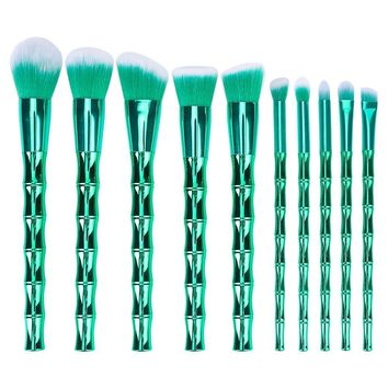 BTYMS 10pcs Makeup Brush Set Professional Cosmetics Foundation Blending Blush Face Powder Eyeshadow Brushes Premium Makeup Brush Kit Synthetic Bristles