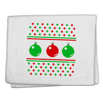 """TooLoud Ugly Christmas Sweater Ornaments 11""""x18"""" Dish Fingertip Towel"""
