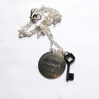 I will always find you, Snow White, Charming, Once Upon A time, Personal Necklace, Engraved Necklace, Fairytale Jewelry