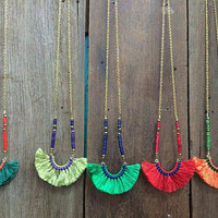 fringe necklace hippie boho luxury accessories festival gift
