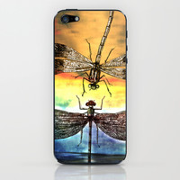 DRAGONFLY meets a Friend iPhone & iPod Skin by Pia Schneider [atelier COLOUR-VISION]
