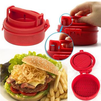 New Stuffed Hamburger Patty Mold Maker Burger Meat Grinder BBQ Grill Press Machine KitchenTool