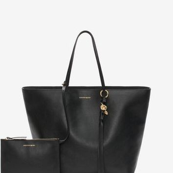 Small Grain Skull Open Shopper | Alexander McQueen