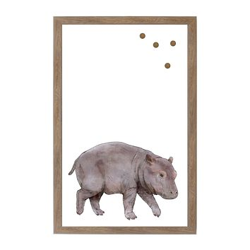 Baby Jungle Animals Baby Hippo Magnet Board