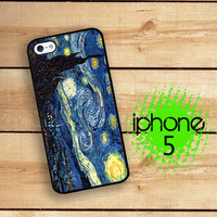 iPhone 5S Case | iPhone 5   | Hard Case For iPhone 5 Starry Night Van Gogh Sky and Stars Plastic or Rubber Trim