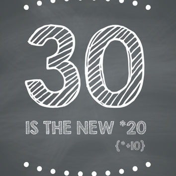 FUNNY - 30 is the new 20