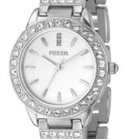 Fossil Fossil Ladies 3-Hand Stainless Steel Glitz Watch