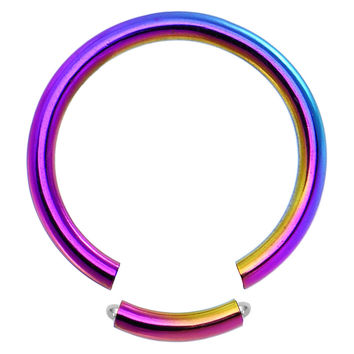 14 Gauge Rainbow Anodized Titanium Segment Ring