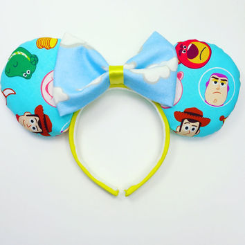 Toy Story Mouse Ears Inspired Handmade - Buzz Lightyear Mouse Ears - Woody Mouse Ears - Hollywood Studios Inspired Mouse Ears