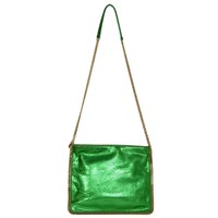 Stella McCartney Metallic Green Falabella Crossbody Bag GHW rt. $1,340