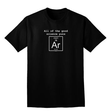 All of the Good Science Puns Argon Adult Dark V-Neck T-Shirt